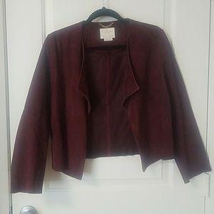 Kate Spade burgundy genuine goat suede jacket
